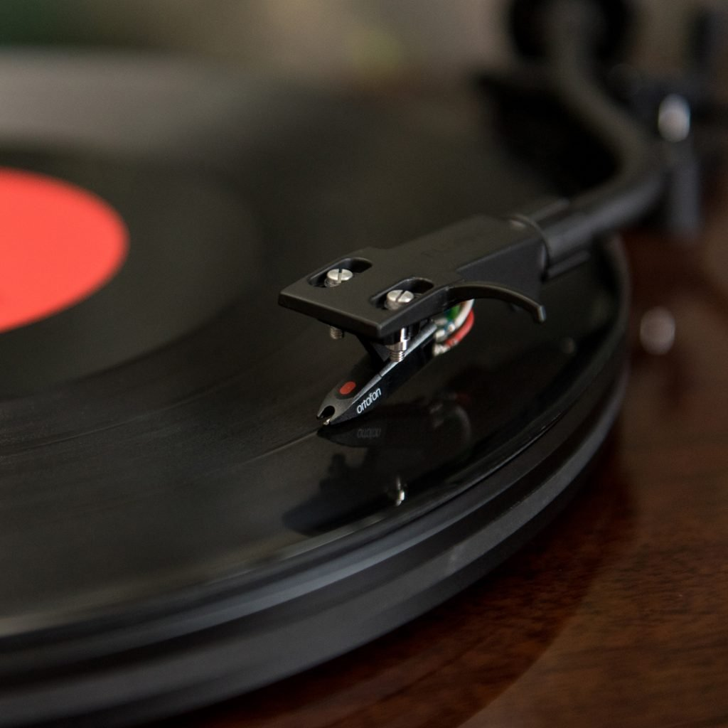 Stylus on vinyl record