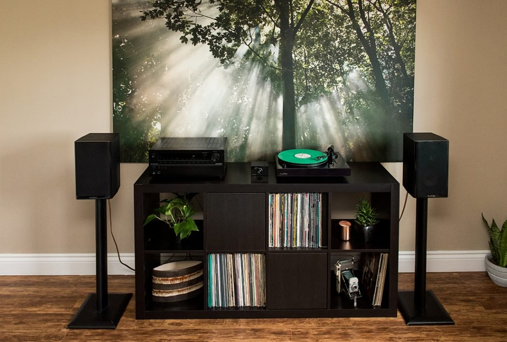 Turntable stand and vinyl record storage