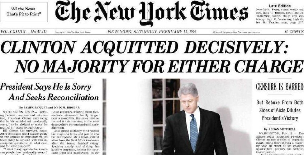 President Clinton is Acquitted